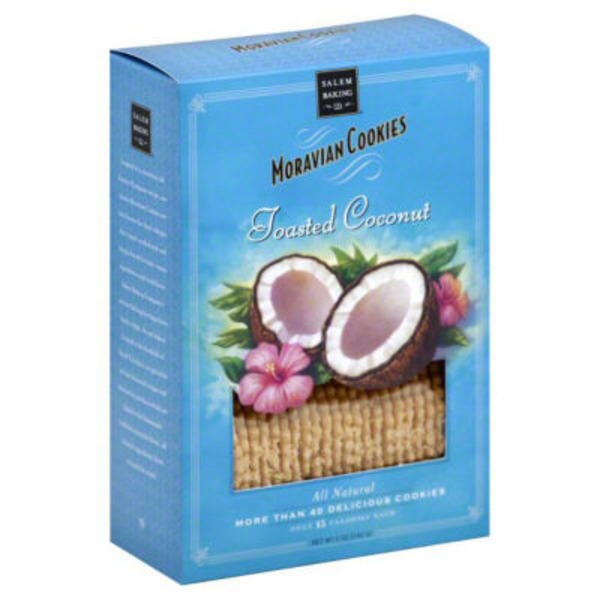 Salem Baking Company Moravian Cookies Toasted Coconut