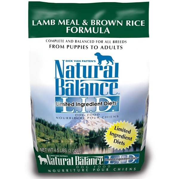 Natural Balance Lamb Meal & Brown Rice Formula Limited Ingredients Diet Dog Food