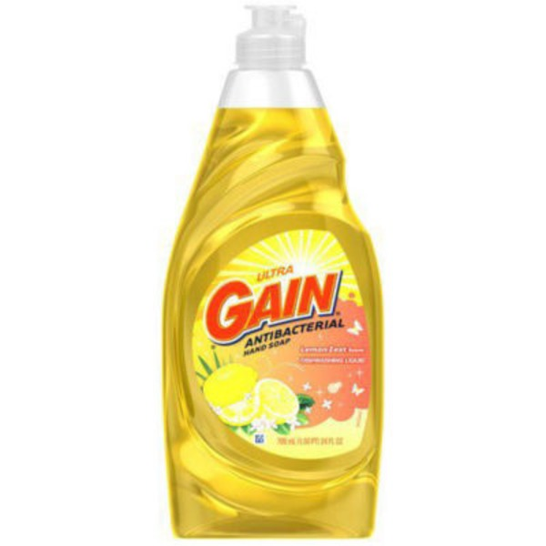 Gain Ultra Lemon Zest Dishwashing Liquid