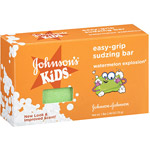 Johnson's Kids Watermelon Easy-Grip Sudzing Soap Bar