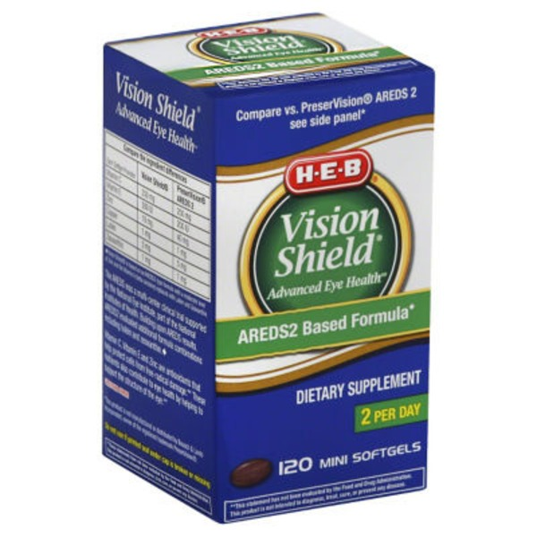 H-E-B Vision Shield Advanced Eye Health Softgels