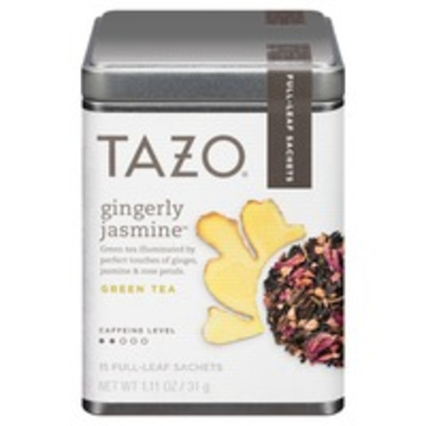 Tazo Tea Gingerly Jasmine Green Tea, Caffeine Free, Full Leaf