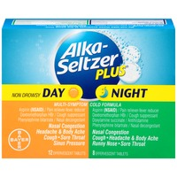 Alka-Seltzer Plus Day/Night Cold Formula Effervescent Tablets Multi-Symptom Relief