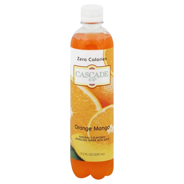 Cascade Ice Sparkling Water, Orange Mango