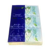 Green2 3 Pack Facial Tissue, Bag