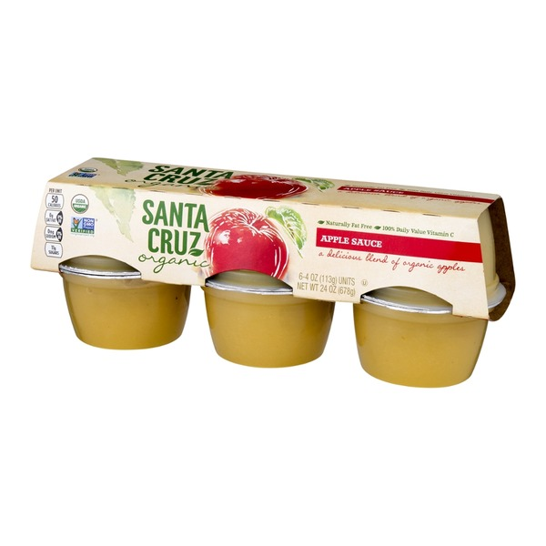 Santa Cruz Organics Apple Sauce - 6 CT