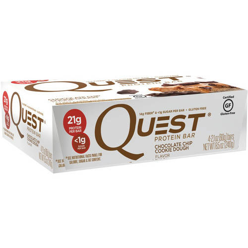 Quest Chocolate Chip Cookie Dough Flavor Protein Bars