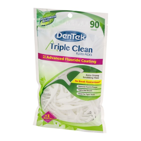 DenTek Triple Clean Floss Pick, Mint