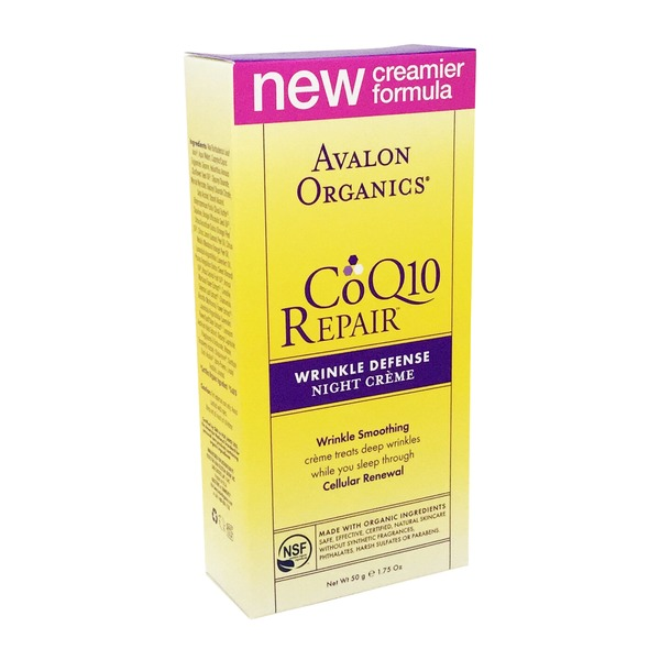 Avalon Organics Night Creme, with CoQ10 & Rosehip