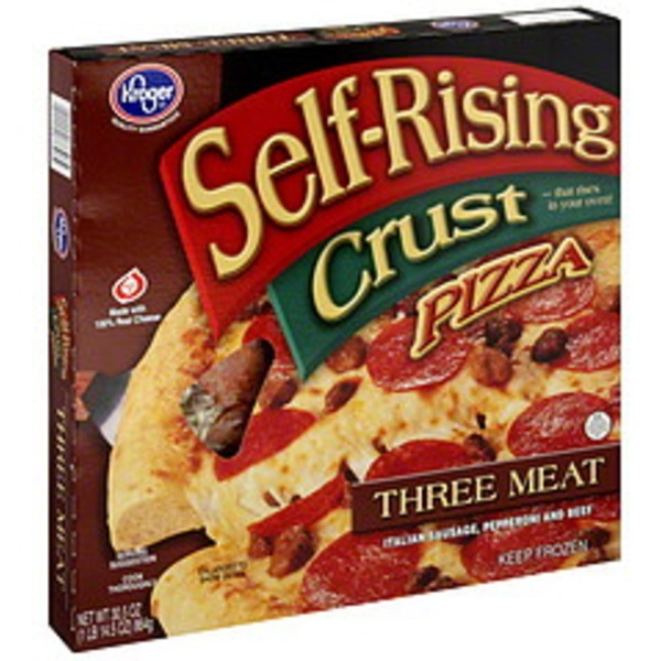 Kroger Pizza Self Rising Crust Three Meat