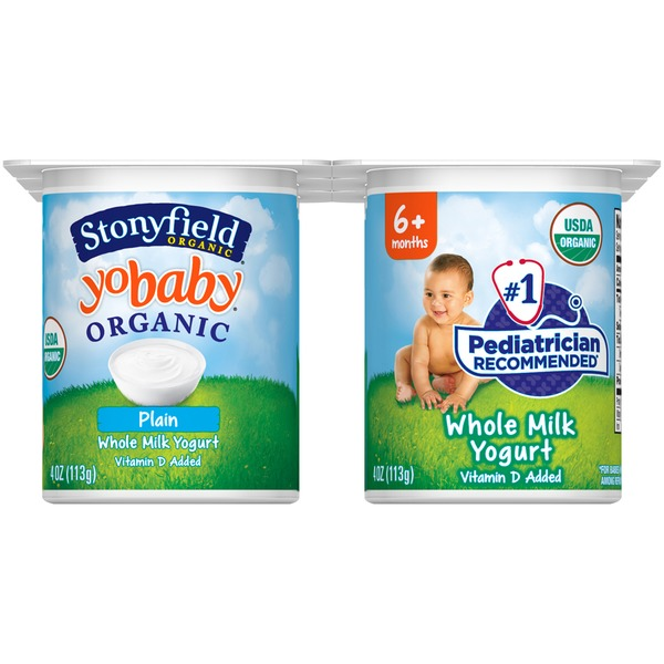 Stonyfield Organic Organic Yobaby Plain with Probiotics Whole Milk Yogurt
