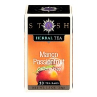 Stash Tea Mango Passionfruit Caffeine Free Herbal Tea Bags