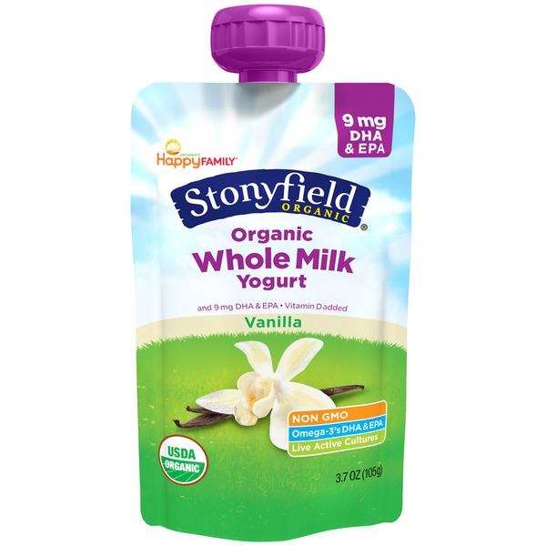 Stonyfield Organic Whole Milk Vanilla Organic Yogurt