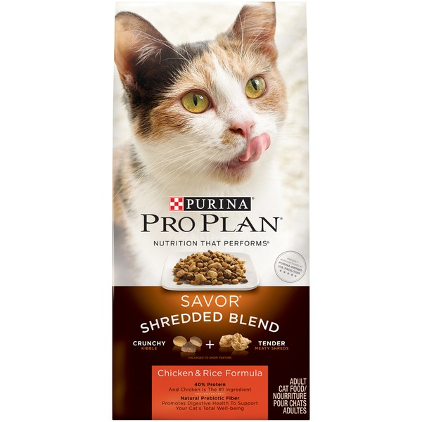 Pro Plan Cat Dry Savor Adult Shredded Blend Chicken & Rice Formula Cat Food