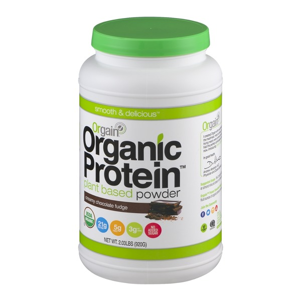 Orgain Organic Protein Plant Based Powder Creamy Chocolate Fudge