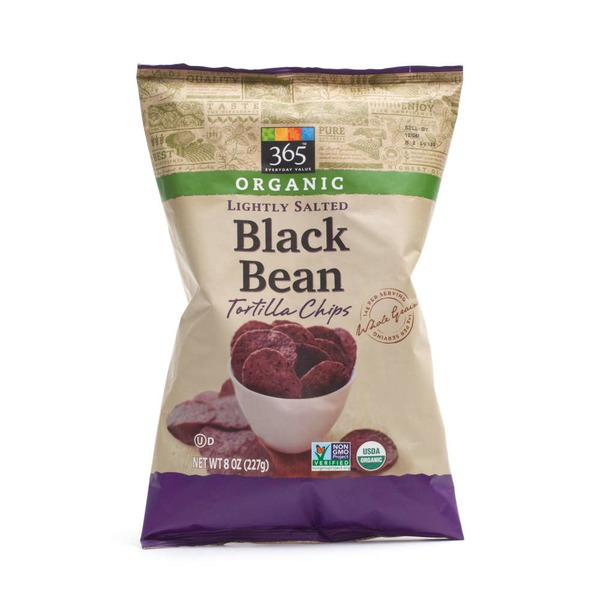 365 Organic Lightly Salted Black Bean Tortilla Chips