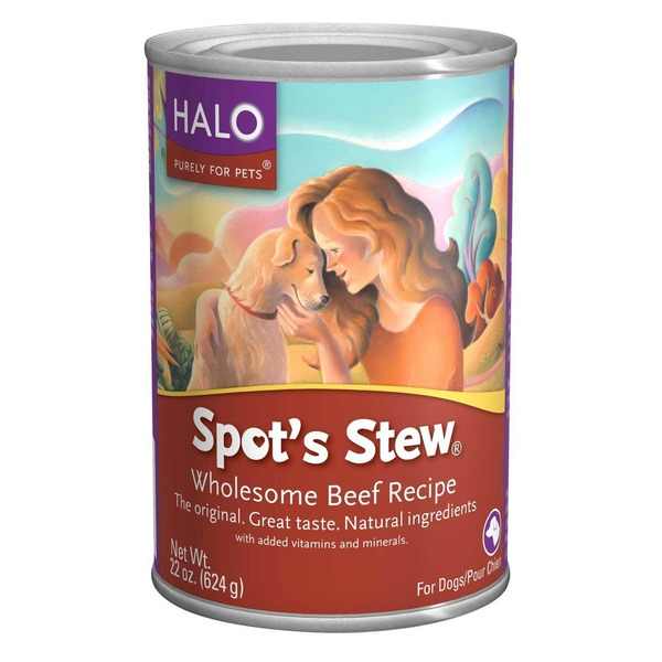 Halo Spot's Stew Wholesome Beef Recipe Canned Dog Food