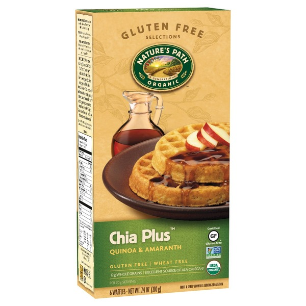 Nature's Path Organic Organic Gluten Free Wheat Free Chia Plus Waffles