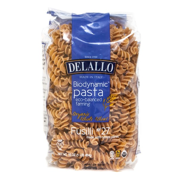 DeLallo Biodynamic Whole Wheat Fusilli Pasta