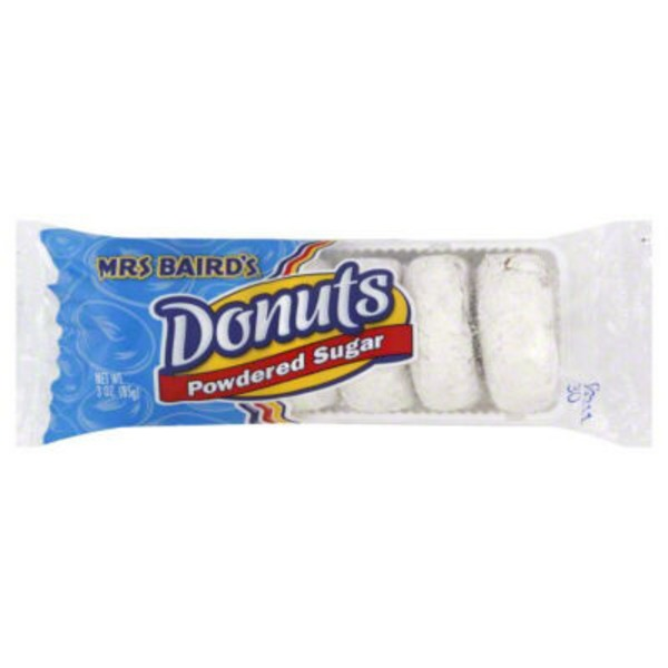 Mrs. Baird's Powdered Sugar Donuts