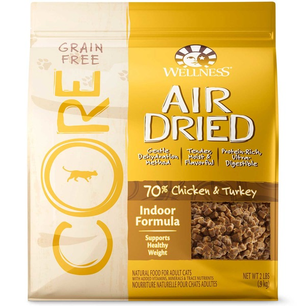 Wellness Core Grain Free Air Dried Chicken and Turkey Indoor Adult Cat Food