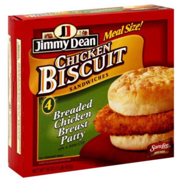 Jimmy Dean Biscuit Sandwiches Southern Style Chicken