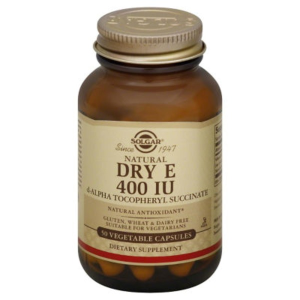 Solgar Dry E, 400 IU, Vegetable Capsules