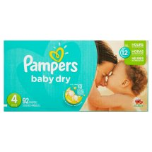 Pampers Baby Dry Diapers, Size 4, 92 Diapers
