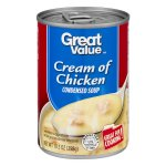 Great Value Cream of Chicken Canned Soup, 10.5 oz