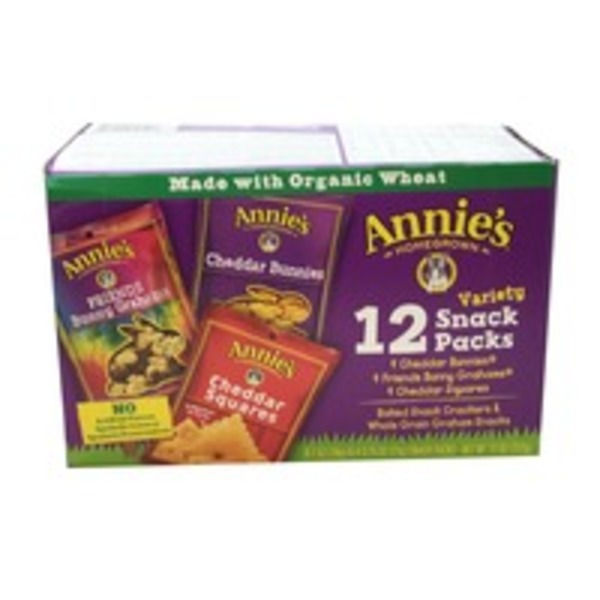 Annie's Homegrown Variety Snack Packs Bunny Variety Pack