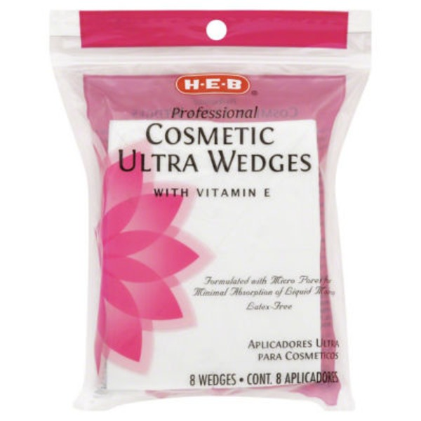 H-E-B Professional Cosmetic Ultra Wedges With Vitamin E