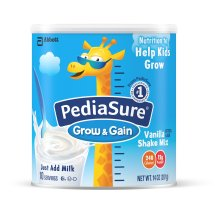 PediaSure Grow & Gain Shake Mix Powder, Vanilla, 14 oz