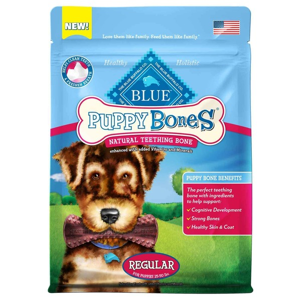 Blue Buffalo Teething Bone, Natural, Regular