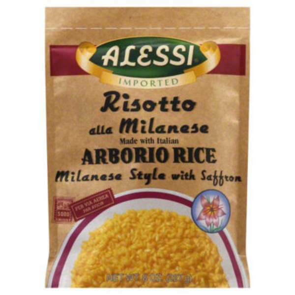 Alessi Risotto all Milanese with Italian Arborio Rice with Saffron