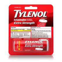 TYLENOL® Extra Strength Caplets, Fever Reducer and Pain Reliever, 500 mg, 10 ct.