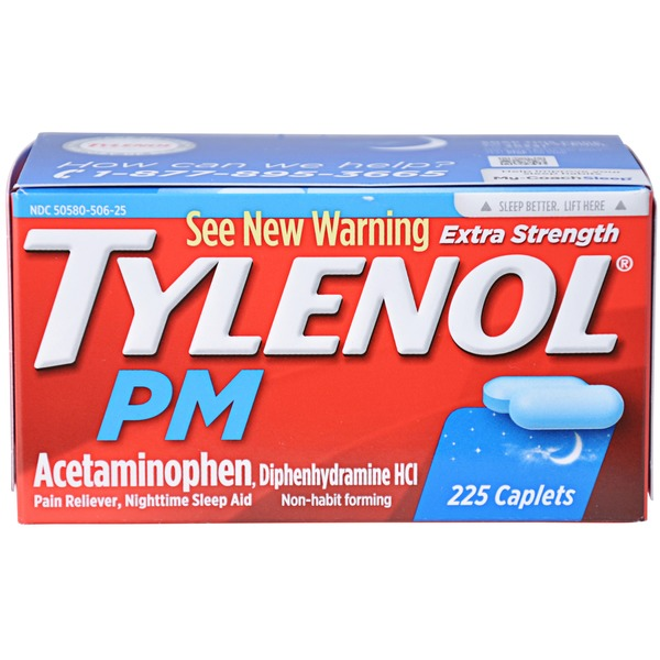 Tylenol® PM Extra Strength Caplets Pain Reliever/Nighttime Sleep Aid