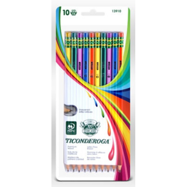 Ticonderoga Noir Striped Pencils