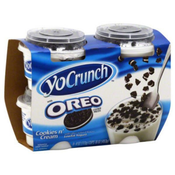 YoCrunch Cookies 'n Cream with Oreo Cookie Pieces Lowfat Yogurt