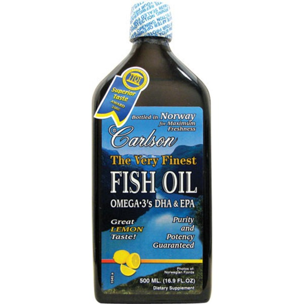 Carlson Labs Very Finest Liquid Fish Oil Omega 3