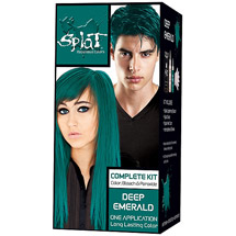 Splat Semi Permanent Bold Hair Color Kit; Deep Emerald