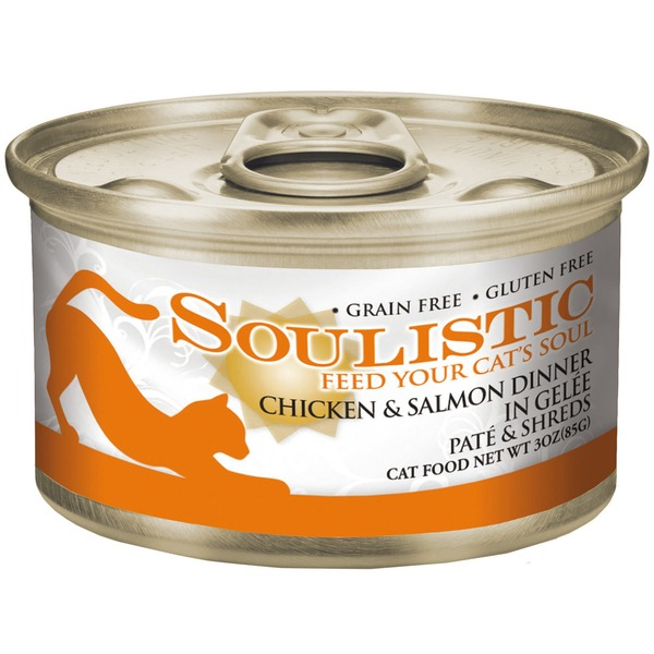 Soulistic Chicken & Salmon Dinner In Gelee Pate & Shreds Adult Canned Cat Food