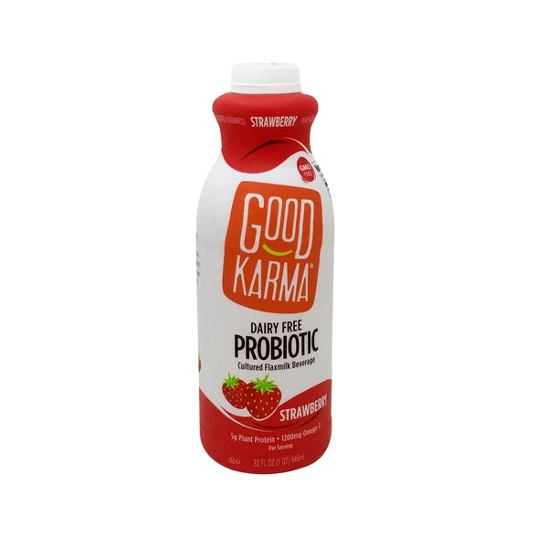 Good Karma Foods Strawberry Flax Probiotic Beverage