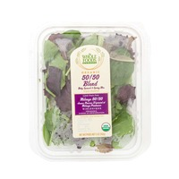 Whole Foods Market Organic Baby Spinach & Spring Mix 50/50 Blend