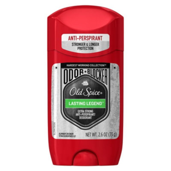 Old Spice Hardest Working Collection Old Spice Hardest Working Collection Odor Blocker Anti-Perspirant & Deodorant Lasting Legend 2.6 oz  AP/DO & Body Spray