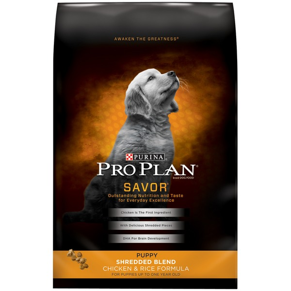 Pro Plan Dog Dry Savor Puppy Shredded Blend Chicken & Rice Formula Dog Food