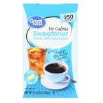 Great Value Sweetener with Aspartame Packets, 8.82 oz, 250 Count