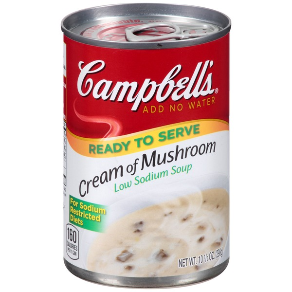 Campbell's Cream of Mushroom Low Sodium Condensed Soup