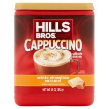 Hills Bros. Coffee Mix, Cappuccino White Chocolate, 16 Oz, 1 Count