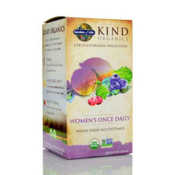 Garden of Life Kind Organics Women's Once Daily Whole Food Multivitamin
