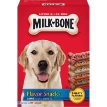 Milk-Bone Flavor Snacks Dog Biscuits - for Large Dogs, 60-Ounce